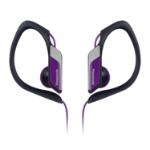 Panasonic RP-HS34PP Gancho de oreja Biauricular Alámbrico Negro, Púrpura auricular para móvil