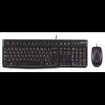 Logitech Desktop MK120, US USB QWERTY US International Zwart