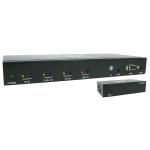 Tripp Lite 4-Port over Cat6 Presentation Switch/Extender Kit - 4K 60 Hz HDMI, DP & USB-C, VGA, UHD, 4:4:4, HDR, PoC, 38.1 m