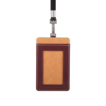 Moshi Badge Holder - 7W x 11.3H x 0.5D  Burgundy Red