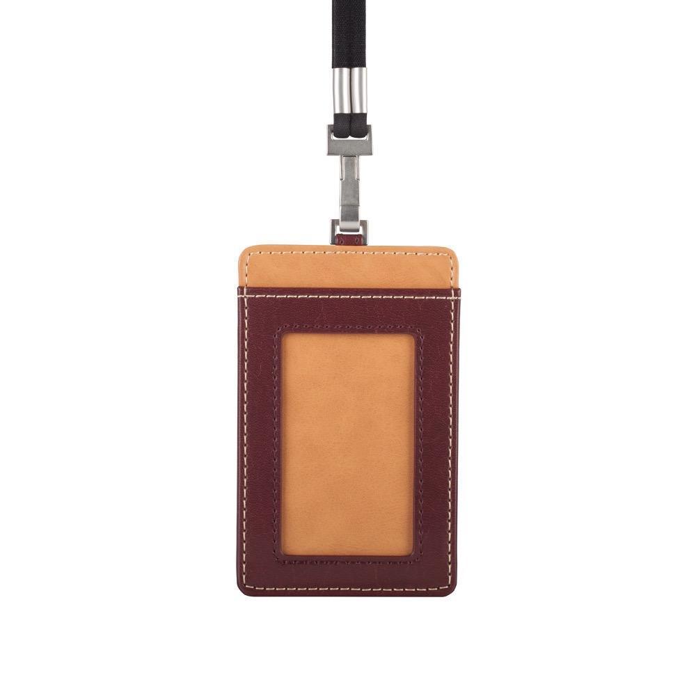 Moshi Badge Holder - 7W x 11.3H x 0.5D  Burgundy Red