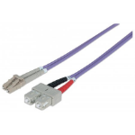 Intellinet Fibre Optic Patch Cable, Duplex, Multimode, LC/SC, 50/125 µm, OM4, 20m, LSZH, Violet