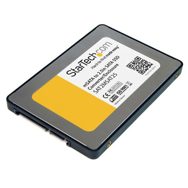 StarTech.com Caja Adaptadora SATA de 2,5 Pulgadas para Unidad de Estado Sólido SSD mSATA