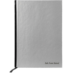 Pukka Notebook Casebound Hardback Ruled with Ribbon 90gsm 192pp A4 Silver Ref RULA4 [Pack 5]