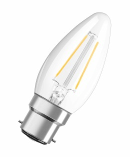 Osram LED Retrofit CL B 2.1W B22d A++ Warm white LED bulb