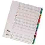 Concord Punched Pocket Index Multicolour Tabbed Europunched 1-12 Extra Wide A4 White Ref CS98