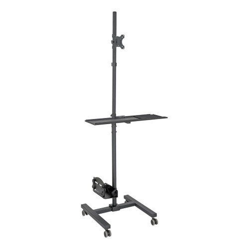 """Tripp Lite Mobile Workstation with Monitor Mount - For 17"""" to 32"""" Displays, Height Adjustable"""