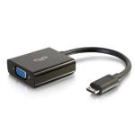 C2G 80503 video cable adapter 0.2 m Mini-HDMI VGA (D-Sub) Black