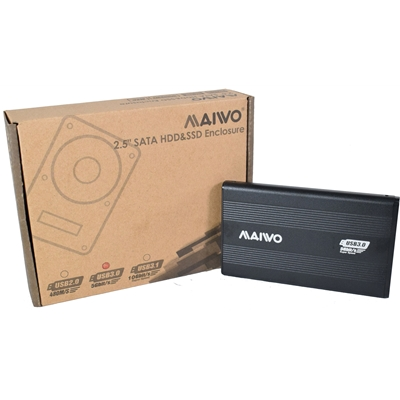 "MAIWO USB 3.0 2.5"" External Hard Drive Enclosure - Black"
