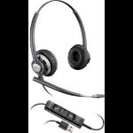 Plantronics Encorepro HW725 USB Binaural Head-band Black,Silver headset