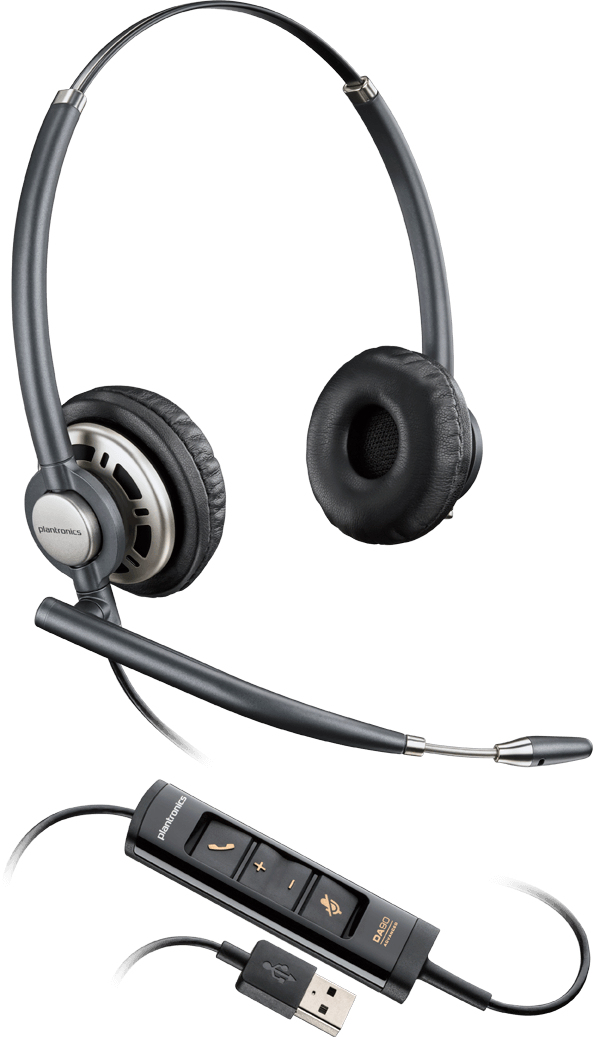 Plantronics Encorepro HW725 Binaural Head-band Black,Silver headset