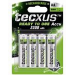Tecxus 4x AA NiMH 1.2V Nickel Metal Hydride 2300mAh 1.2V rechargeable battery