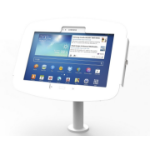 Maclocks Compulocks Galaxy Secure Space Enclosure with Pole Stand Kiosk White - Stand for tablet - aluminium
