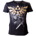 Nintendo Legend of Zelda Men's Gold Link Logo T-Shirt, Medium, Black (TS221100NTN-M)