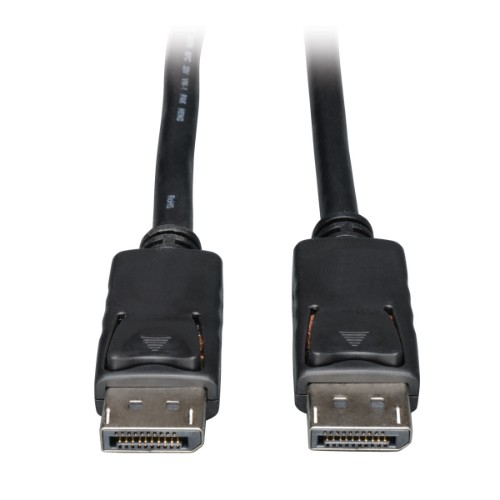 Tripp Lite DisplayPort Digital Video and Audio Cable with Latches (M/M), 4K x 2K, 3840 x 2160 - 4.57 m