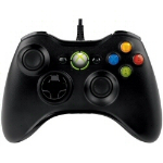Microsoft Xbox 360 Controller f/Windows Gamepad PC,Xbox Black