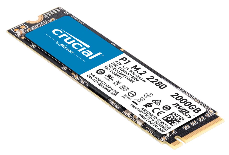 Crucial P1 M.2 2000 GB PCI Express 3.0 3D NAND NVMe