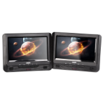 "LASER DVD Player Dual 9"" in car with Bonus Pack (headrest mounts and earphones)"