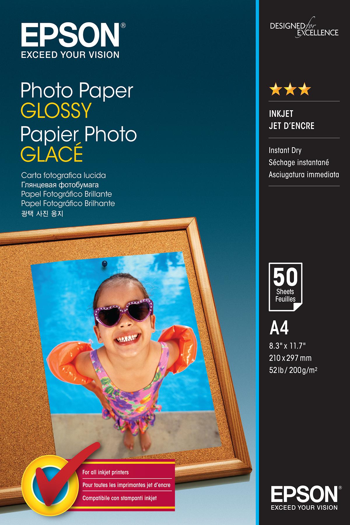 Epson Photo Paper Glossy - A4 - 50 Vellen