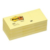 Post-It Note Recycled 38x51mm Canary Yellow PK12