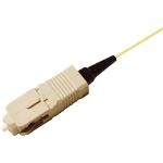 Cablenet 9SC1 1m SC Yellow, Beige fiber optic cable