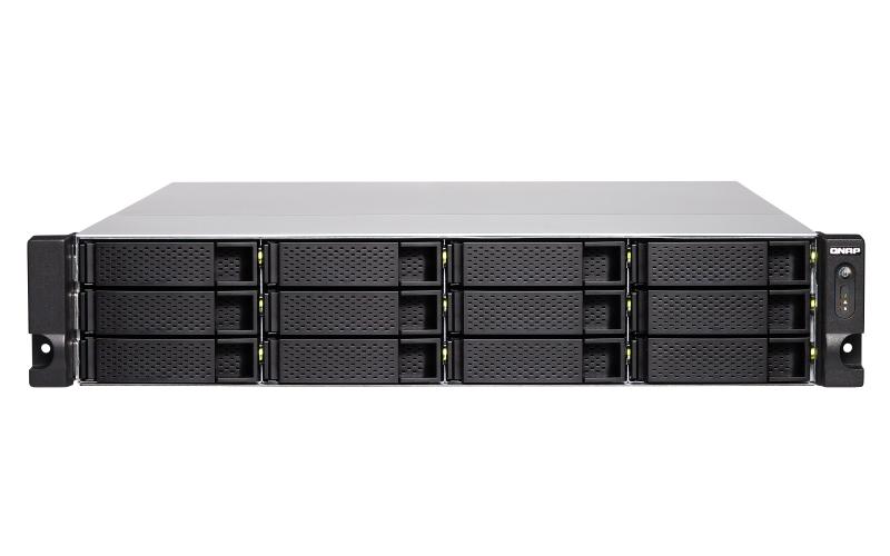 QNAP TS-1283XU-RP E-2124 Ethernet LAN Rack 2U Aluminium,Black NAS