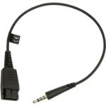 Jabra 8800-00-99 tussenstuk voor kabels Quick Disconnect (QD) 3,5 mm Zwart