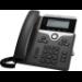 Cisco 7811 teléfono IP Negro, Plata 1 líneas LED