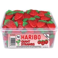 HARIBO GIANT STRAWBS DRUMS PK120