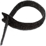 Cablenet Hook & Loop Tie 300mm x 13mm PK10 Black