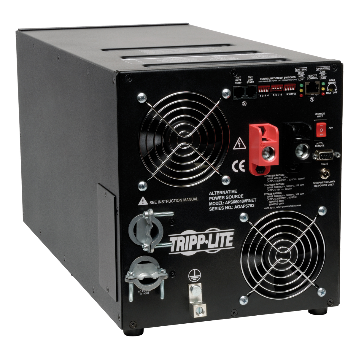 Power Inverter 6000W APS X Series 48VDC 208/230V with Pure Sine-Wave Output AVR Hardwired