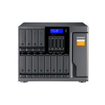 """QNAP TL-D1600S HDD/SSD enclosure Black, Grey 2.5/3.5"""" TL-D1600S/96TB-TOSH"""