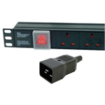 Dynamode PDU-8WS-V-UK-IEC20 power distribution unit (PDU) 1U Black 8 AC outlet(s)