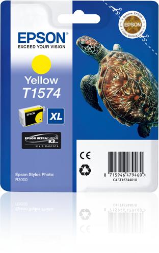 Epson C13T15744010 (T1574) Ink cartridge yellow, 26ml