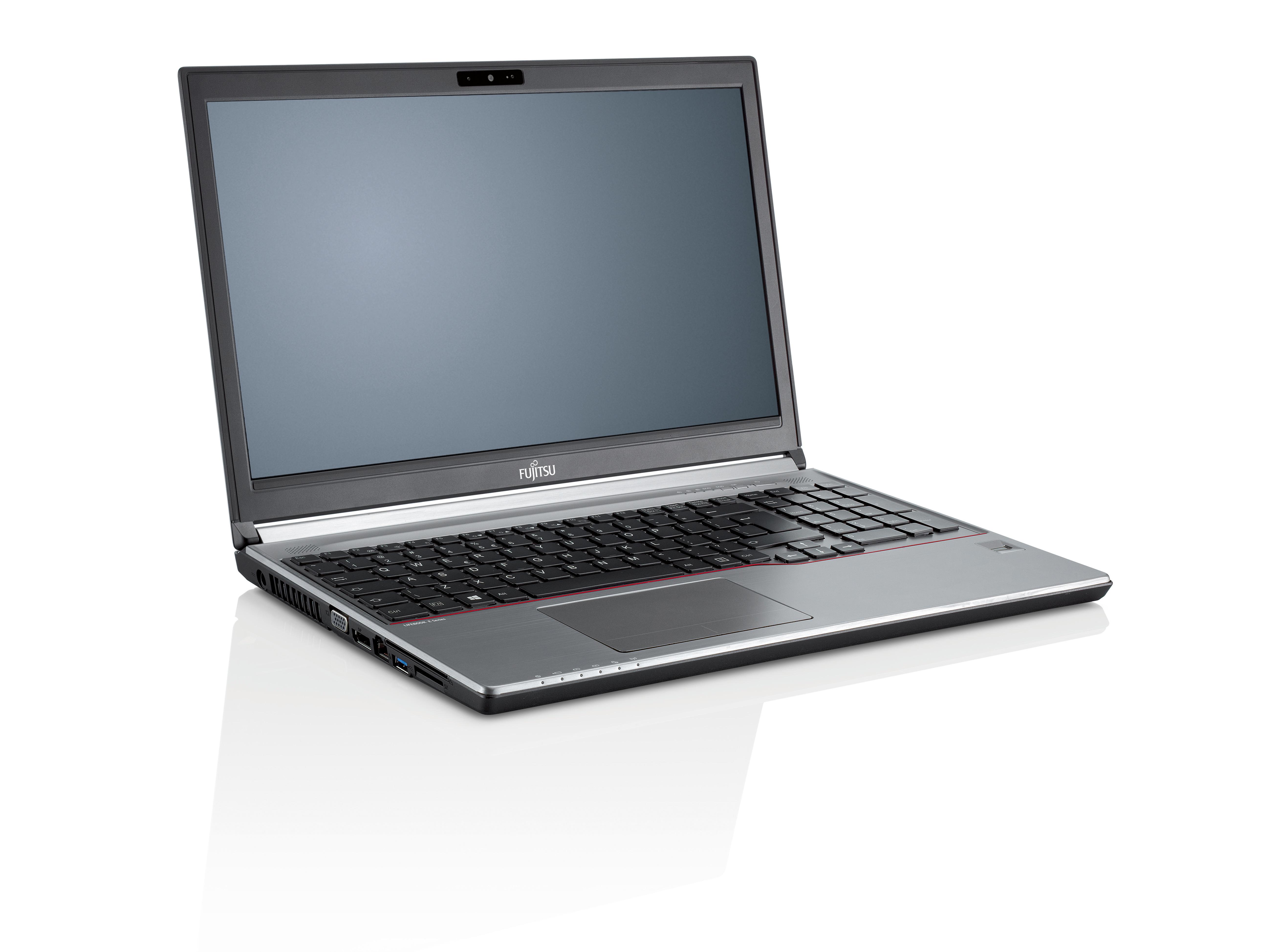 """Fujitsu LIFEBOOK E756 2.3GHz i5-6200U 15.6"""" 1366 x 768pixels Black,Silver"""
