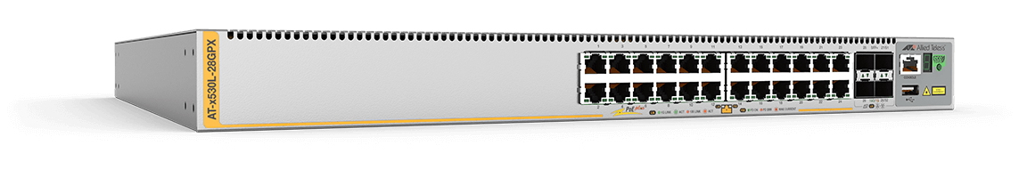 Allied Telesis AT-x530L-28GPX-50 Gestionado L3+ Gigabit Ethernet (10/100/1000) Gris 1U Energía sobre Ethernet (PoE)