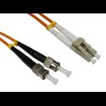 Cables Direct 3.0m LC-ST 50/125 MMD OM2 fibre optic cable 3 m Orange
