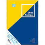 OFFICE NATIONAL LAMINATING POUCHES A4 80 MICRON PACK 100