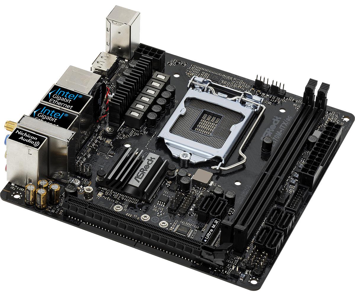 Asrock Z370M-ITX/ac LGA 1151 (Socket H4) Mini ITX motherboard