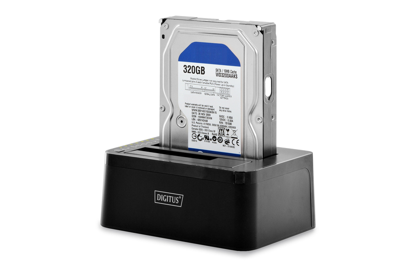 Digitus DA-71540 storage drive docking station USB 3.0 (3.1 Gen 1) Type-B Black