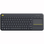 Logitech K400 Plus keyboard RF Wireless QWERTY Spanish Black