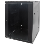 "Intellinet 19"" Double Section Wallmount Cabinet, 15U, 550mm depth, Assembled, Black"