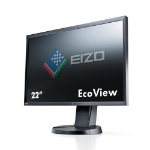 Eizo EV2216WFS3 22 Inch LED Monitor, 1680 x 1050, Black Bezel, TN Panel, 2 x 1W Built-In Speakers, Height Adjustable, 5 Year Warranty