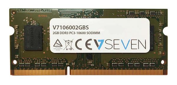 V7 2GB DDR3 PC3-10600 - 1333mhz SO DIMM Notebook módulo de memoria - V7106002GBS