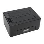 Tripp Lite USB 3.0 SuperSpeed to Dual SatA External Hard Drive Docking Station with Cloning for 2.5in/3.5in HDD