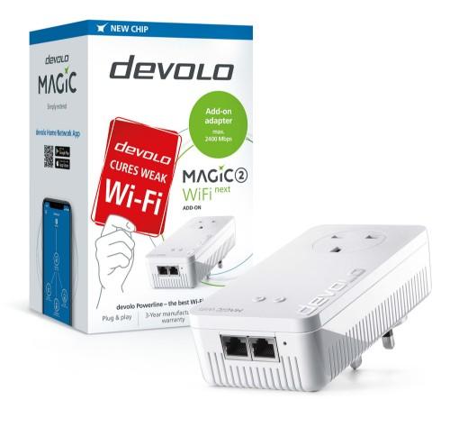 Devolo Magic 2 WiFi next 2400 Mbit/s Ethernet LAN Wi-Fi White 1 pc(s)