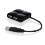 BELKIN USB 2.0 4 Port Mobile Travel Hub 4 in Black - USB Powered