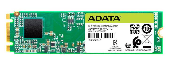 ADATA Ultimate SU650 M.2 120 GB Serial ATA III 3D TLC