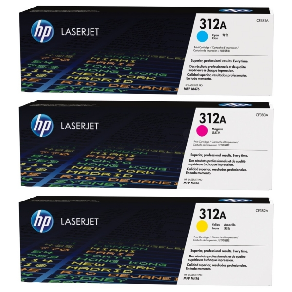HP CF440AM (312A) Toner MultiPack, 2.7K pages, Pack qty 3