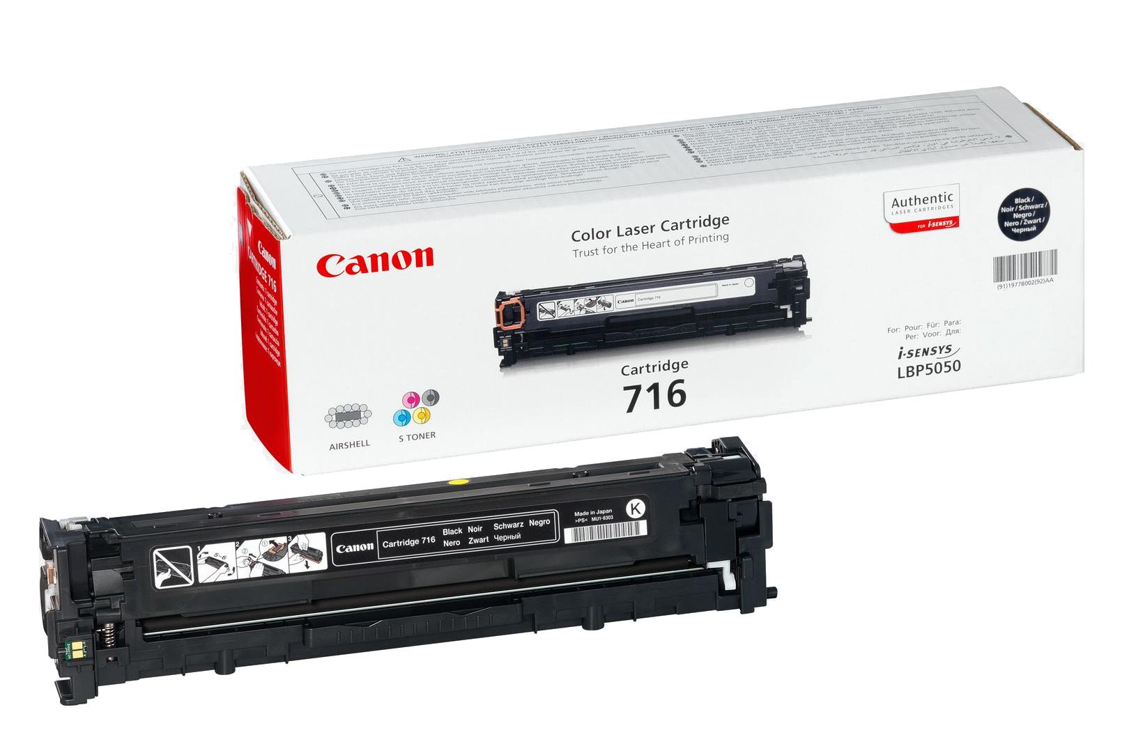 Canon Cartridge 716 Black Original Negro 1 pieza(s)